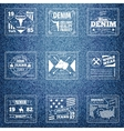 Original authentic denim jeans labels vector image vector image