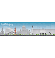 Saint Petersburg skyline with grey landmarks vector image