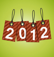 new 2012 year tags vector image