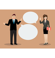 Businessman and business woman discussing vector image vector image