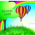 a new journey in a balloon vector image