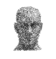 head human face wireframe technology vector image