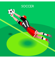 Soccer Block 2016 Summer Games 3D Isometric vector image vector image