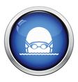 Swimming man head icon vector image