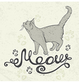 Background with cat and lettering vector image
