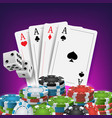 casino poker design poker cards chips vector image