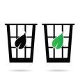 eco basket garbage icon vector image