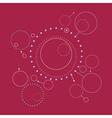 Geometric Background Line Style Design vector image