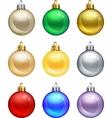 isolated christmas balls set vector image