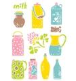 Set of milk things vol 1 vector image