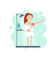 Taking a Shower Daily Routine Activities of Women vector image