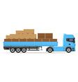 truck semi trailer concept 01 vector image