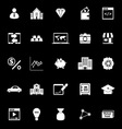 Passive income icons on black background vector image