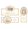 Set of vintage easter labels vector image vector image