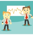 dialogue and business graph vector image