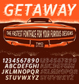 Retro Type Font in movie poster style vector image vector image