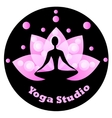 Yoga icon for yoga studio vector image