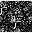 seamless tree pattern 015 vector image