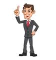 Businessman has an idea 2 vector image