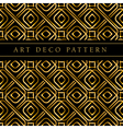gold square shape seamless pattern in ar deco vector image
