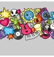 Music party kawaii seamless pattern Musical vector image