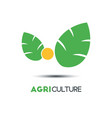 agriculture business logo template two green vector image