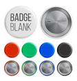 blank badges set realistic vector image
