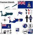 Cayman Islands map vector image