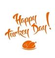 Happy Turkey Day vector image