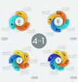 set of modern circular infographic design vector image