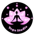 Yoga icon for yoga studio vector image
