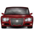 Red concept car No trademark vector image