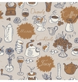 seamless background on tea and coffee vector image