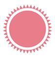 pink label emblem decoration frame circular vector image