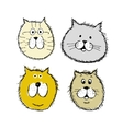 Cat and dogs faces sketch for your design vector image