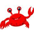 cute crab cartoon vector image