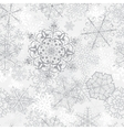 Christmas seamless gray pattern vector image vector image