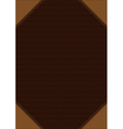 Brown decorative background vector image