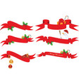 Christmas banners vector image vector image