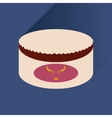 Flat with shadow Icon Open canned beef vector image