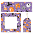 halloween stationery vector image vector image