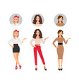 casual fashion women set vector image