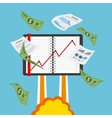 financial startup vector image
