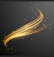 gold glitter wave vector image