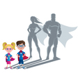 Kids Superhero Concept vector image