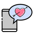 Love Crush Message vector image