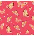 Pattern of butterflies vector image