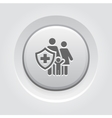 Family insurance icon grey button design vector