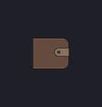 Wallet computer symbol vector image