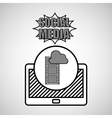 hand drawing movie cloud social media mobile vector image